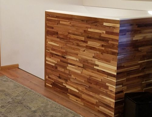 Rowlock wood accent wall