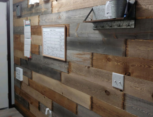 Dakota Rustic Wood Accent Wall